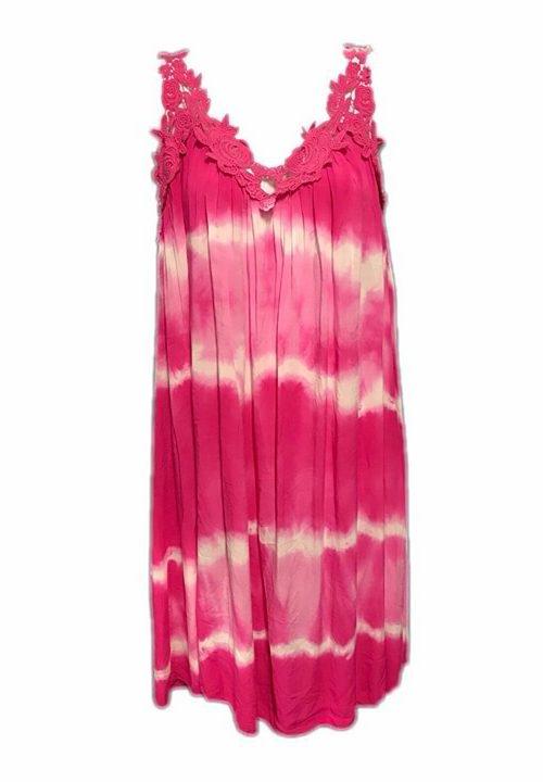 jurk gevlekt roze