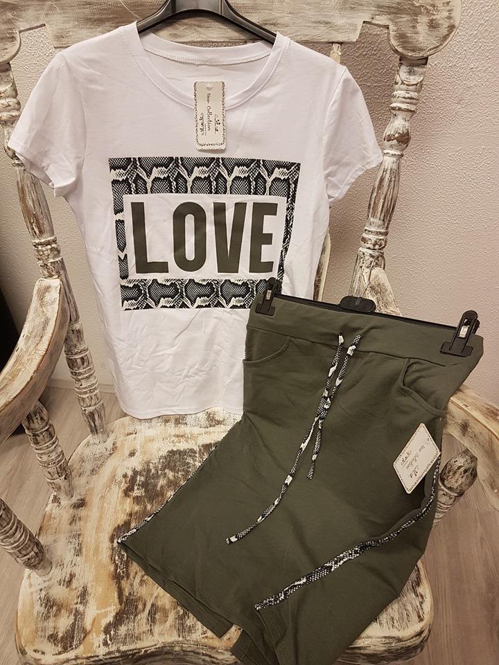Wonderbaarlijk Love set army rok en shirt code 114 – Patty's Fashion & Shoes XV-98